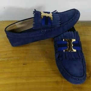 Tory Burch New Navy Loafers
